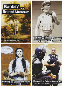Banksy, Four posters from the Banksy vs. Bristol Museum Exhibition