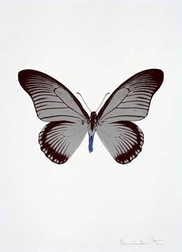 Damien Hirst, The Souls IV  (Silver Gloss/Burgundy/Frost Blue)