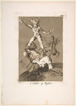 Francisco de Goya, Plate 56 from 'Los Caprichos': To rise and to fall (Subir y bajar.)