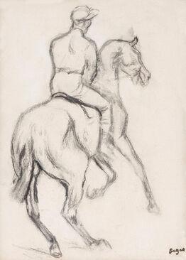 Edgar Degas, Jockey à cheval