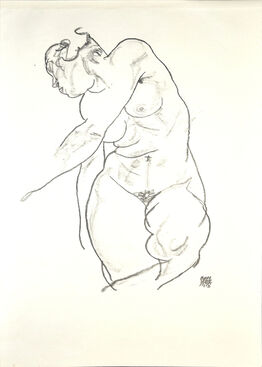 Egon Schiele, Female Nude