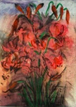 Jim Dine, Red Pepper Lilies