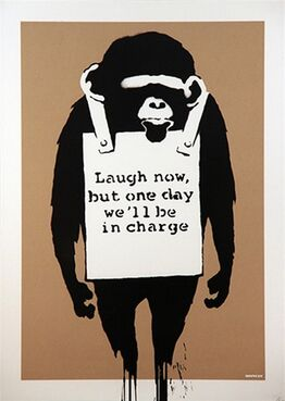 Banksy, Laugh Now (unsigned)