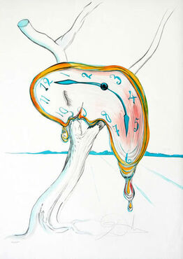 "Salvador Dalí, ""Tear of Time"" Hand Signed Salvador Dali Lithograph"