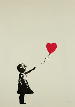 Banksy, Girl with Balloon (Heart)