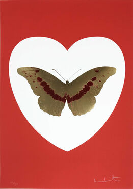 Damien Hirst, I Love You - White/Red/Cool Gold/ Poppy Red