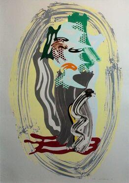 Roy Lichtenstein, Green Face, from Brushstroke Figures
