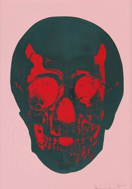 Damien Hirst, Till Death Do Us Part - Coral Red Silver Gloss