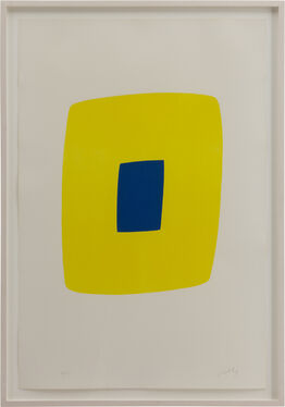 Ellsworth Kelly, Yellow with Dark Blue (Jaune Clair avec Bleu Foncé)