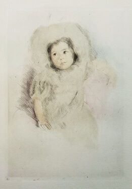 Mary Cassatt, Margot wearing a Bonnett (No. 1)