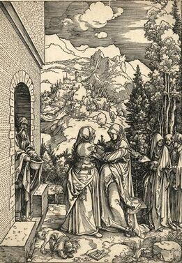 Albrecht Dürer, Die Heimsuchung (from Marienleben)