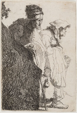 Rembrandt van Rijn, Beggar Man and Woman Behind a Bank