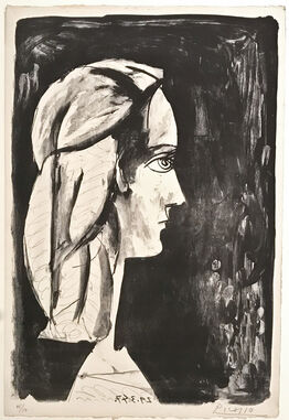 Pablo Picasso, Profil au fond noir