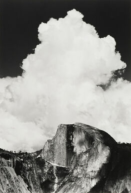 Ansel Adams, Half Dome, Thunder Cloud