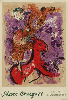 Marc Chagall, Woman Circus Rider on Red Horse - Charlottenborg