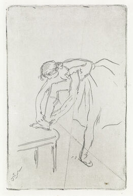Edgar Degas, Danseuse mettant son chausson