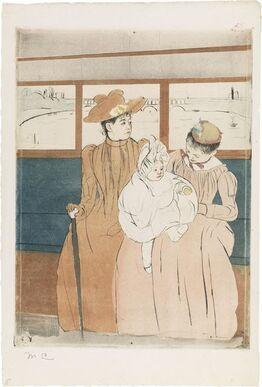 Mary Cassatt, In the Omnibus (Interieur d'un tramway passant un pont)