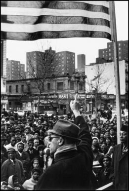 Gordon Parks, Malcolm X Gives Speech at Rally, Harlem, New York, New York