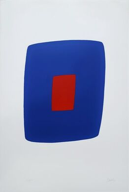 Ellsworth Kelly, Dark Blue with Red (VI.7)