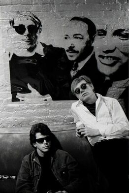 Stephen Shore, Lou Reed, Andy Warhol