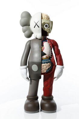 KAWS, 4 FOOT DISSECTED COMPANION (BROWN)