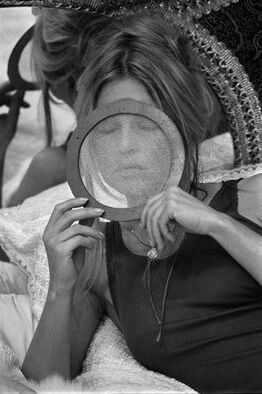 Terry O'Neill, Brigitte Bardot during the filming of 'The Novices'