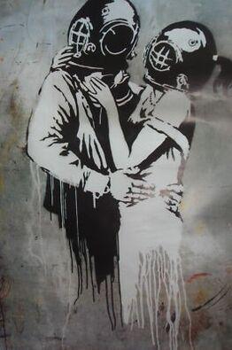 "Banksy, BLUR ""THINK TANK"" PROMOTIONAL POSTER HYPER RARE"