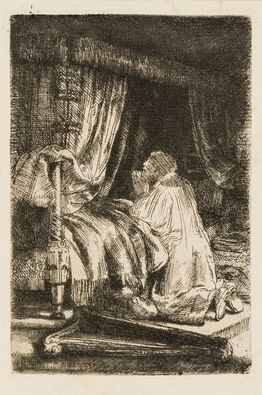 Rembrandt van Rijn, David at Prayer