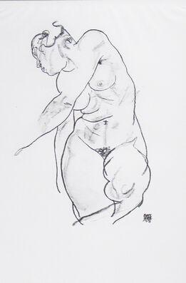 Egon Schiele, Female Nude [Handzeichnungen]