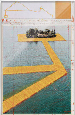 Christo,  The Floating Piers (Project for Lake Iseo, Italy) San Paolo