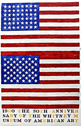 Jasper Johns, 50th Anniversary of the Whitney Museum of American Art in New York City (Two Flags)