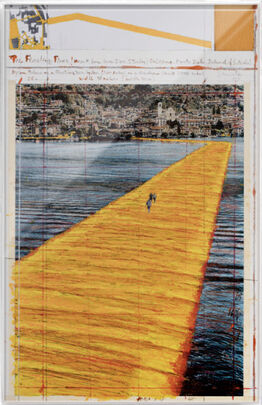 Christo,  The Floating Piers (Project for Lake Iseo, Italy) Sulzano