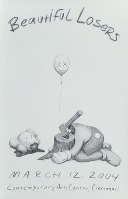 KAWS, Beautiful Losers, exhibition poster