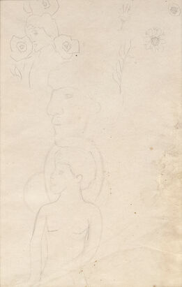 "Paul Gauguin, Pencil Study for ""We Greet Thee, Mary"""