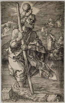 Albrecht Dürer, Saint Christopher facing right