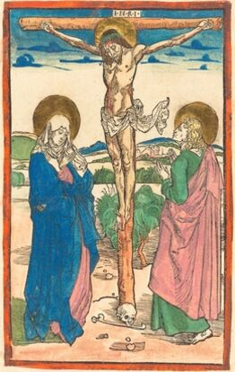 Albrecht Dürer, Christ on the Cross Between the Virgin and Saint John