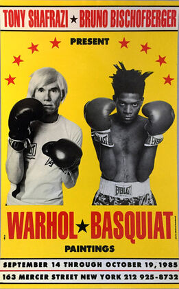 Jean-Michel Basquiat, Warhol Basquiat Boxing Poster 1985 (Warhol Basquiat collaborations at Tony Shafrazi)