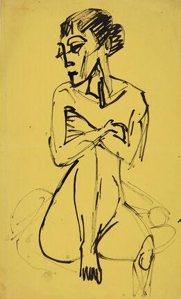 Ernst Ludwig Kirchner, Sitzender Akt (Sitting Nude)