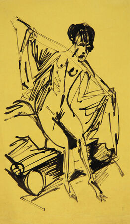 Ernst Ludwig Kirchner, Sich frottierendes Mädchen (Girl with Towel)
