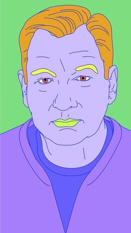 Michael Craig-Martin, Untitled (Self-Portrait) #1