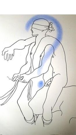 "Jean Cocteau, Original Lithograph ""White Book VIII"" by Jean Cocteau"