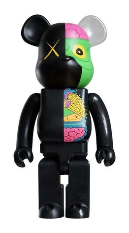 KAWS, KAWS Black Dissected 400% Bearbrick Companion (KAWS Be@rbrick 400%)