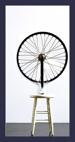 "Marcel Duchamp, Bicycle Wheel Sculpture (Limited Edition 9"" Working Replica Exclusively for the Philadelphia Museum of Art)"