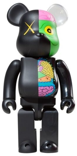 KAWS, 1000% Dissected Bearbrick (Black)