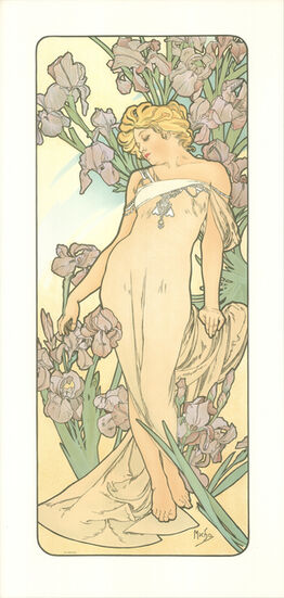 Alphonse Mucha, The Flowers
