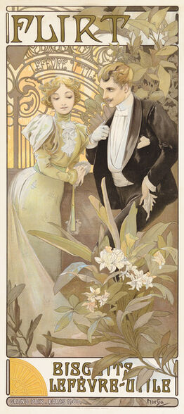 Alphonse Mucha, Flirt Biscuits