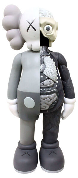 KAWS, 4 FOOT DISSECTED COMPANION (GREY)