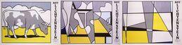 Roy Lichtenstein, Cow Going Abstract (Triptych)