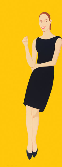 Alex Katz, Black Dress V, Ulla (series)