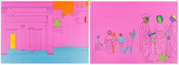 Michael Craig-Martin,  Deconstructing Piero (pink)
